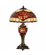 Tiffany Style Table Lamp Victorian Desk Lamp Stained Glass Home Décor Lamp - $139.99
