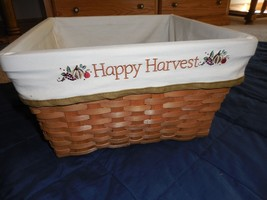 "New Large Square Basket Fall Halloween Harvest Changeable Liners 13.6""X1... - $12.88"
