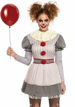 Leg Avenue Creepy Clown IT Pennywise Dress Adult Womens Halloween Costum... - $34.99