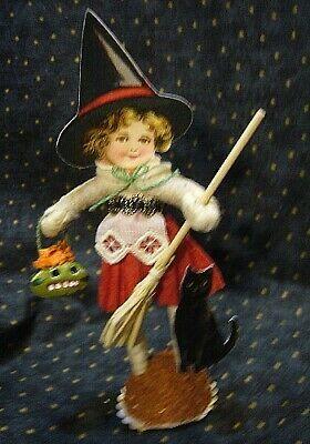 Vintage Inspired Spun Cotton, Halloween Witch