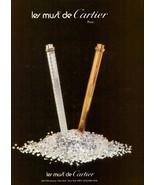 1980 Les Must De Cartier Paris Pens Diamonds Print Ad Vintage Advertisem... - $8.71