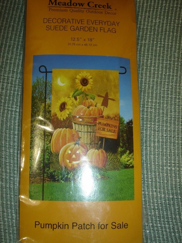 Meadow Creek Fall Pumpkin Patch Sunflowers Garden Flag NEW