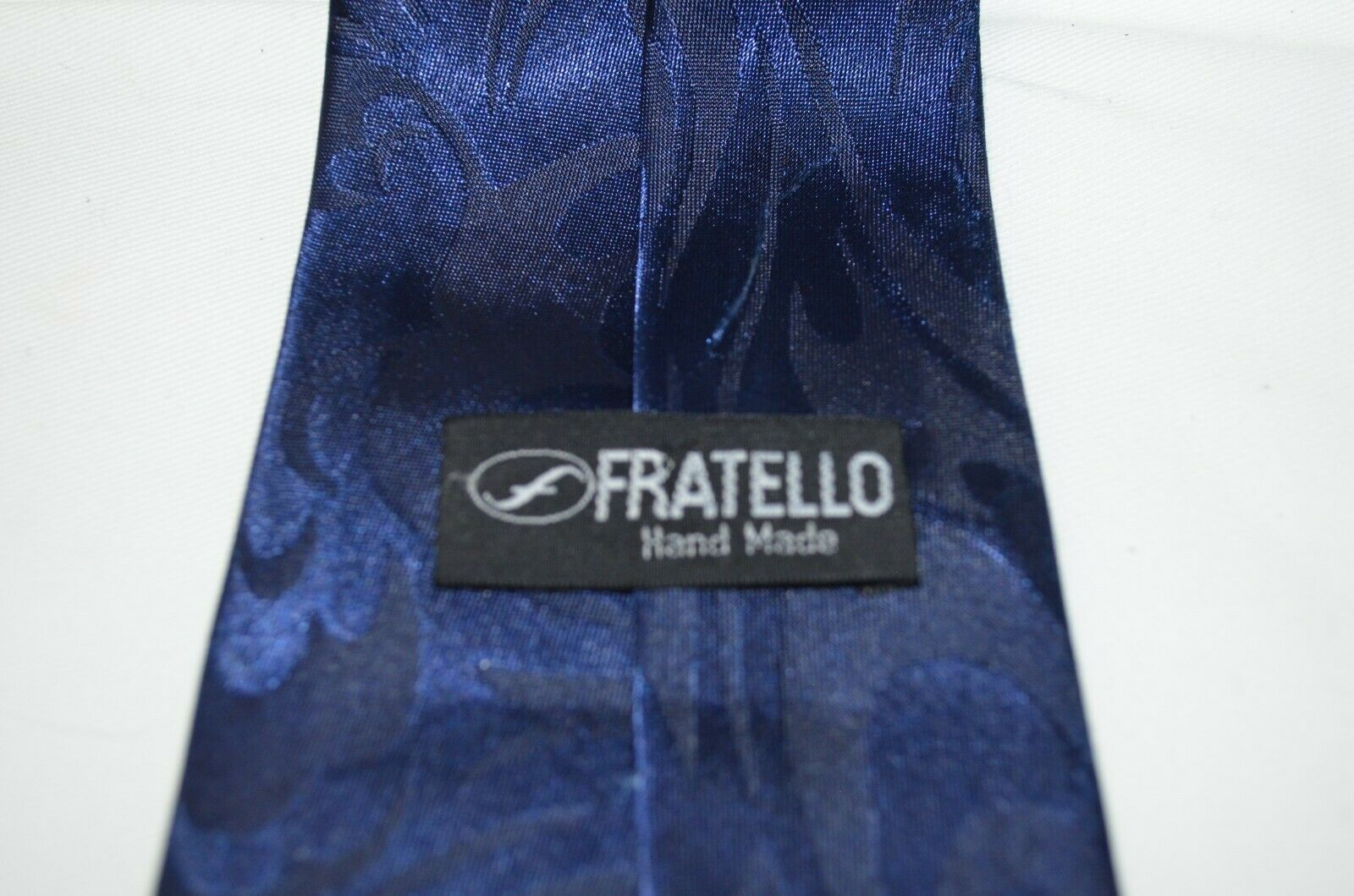 Cross Holy Bible Necktie Tie Religious Jesus Fratello Hand Made Blue Maroon  image 3
