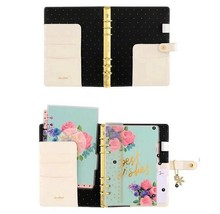A5 White & Gold Polka Dot 'Best Wishes' Planner, Organizer Kit & Snowfla... - $59.00