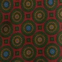 Burgundy Foulard ZEGNA Silk Tie - $14.99