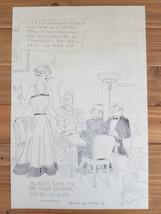 Vintage 1937 Ink Drawing by NY Tribune Cartoon Artist Harold T Webster - $155.00