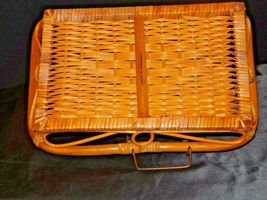 Serving Tray Wicker Basket AA-191707 Vintage Collectible image 7