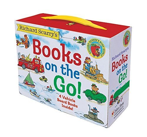 Primary image for Richard Scarry's Books on the Go by Richard Scarry In Board book FREE SHIPPING