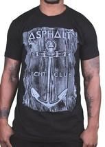 Asphalt Yacht Club Skateboarding Cali Black Mens Anchor Wood T-Shirt AYC NWT image 1