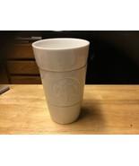 White Starbucks Cup Embossed Mermaid Logo Shots Syrup Milk - $24.70