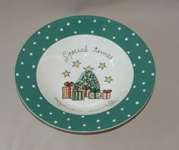 "10 7/8"" Christmas Wish Round Vegetable Bowl Rimmed Mikasa Ultima+ HK713 - $14.80"