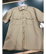 Dickies Short Sleeved Work Shirt, Brown, Mens - $22.50