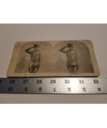 Home Treasure The Soldier Stereoview Card Military Uniform Saluting Sold... - $23.74