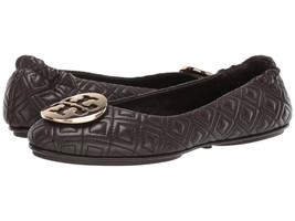 NIB Tory Burch Quilted Minnie Ballet Flat Espresso Brown US 8M AUTHENTIC $238+t - $158.00