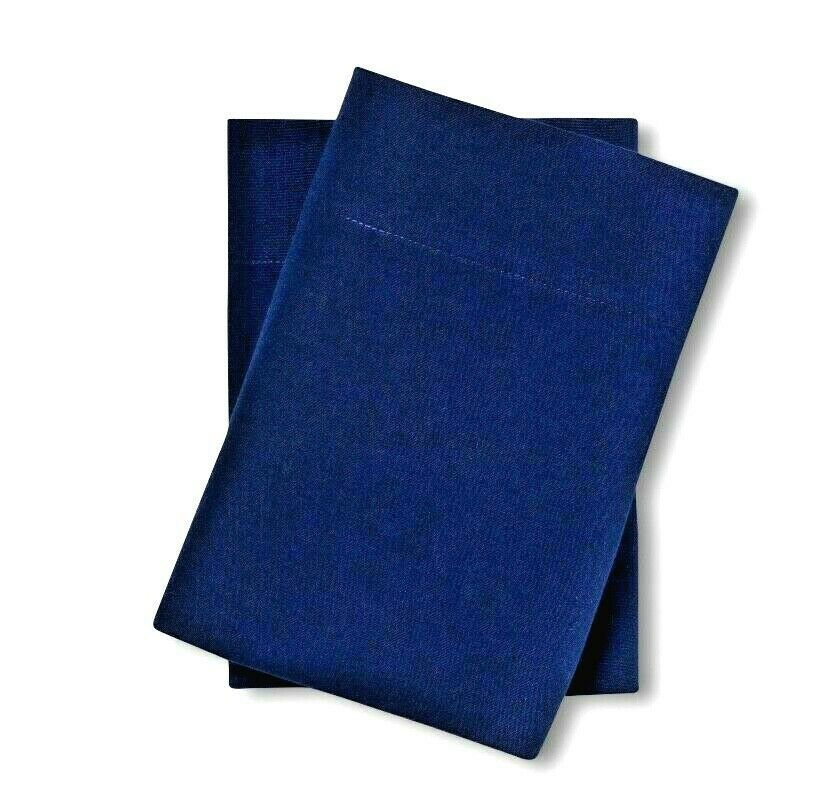 Made By Design Solid Easy Care Pillowcase Set STANDARD Blue Amethyst NEW!