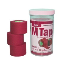 Mueller M-Tape Canister (3 Rolls/Pack)-Pink (1.5'' x 10yds) - $12.07