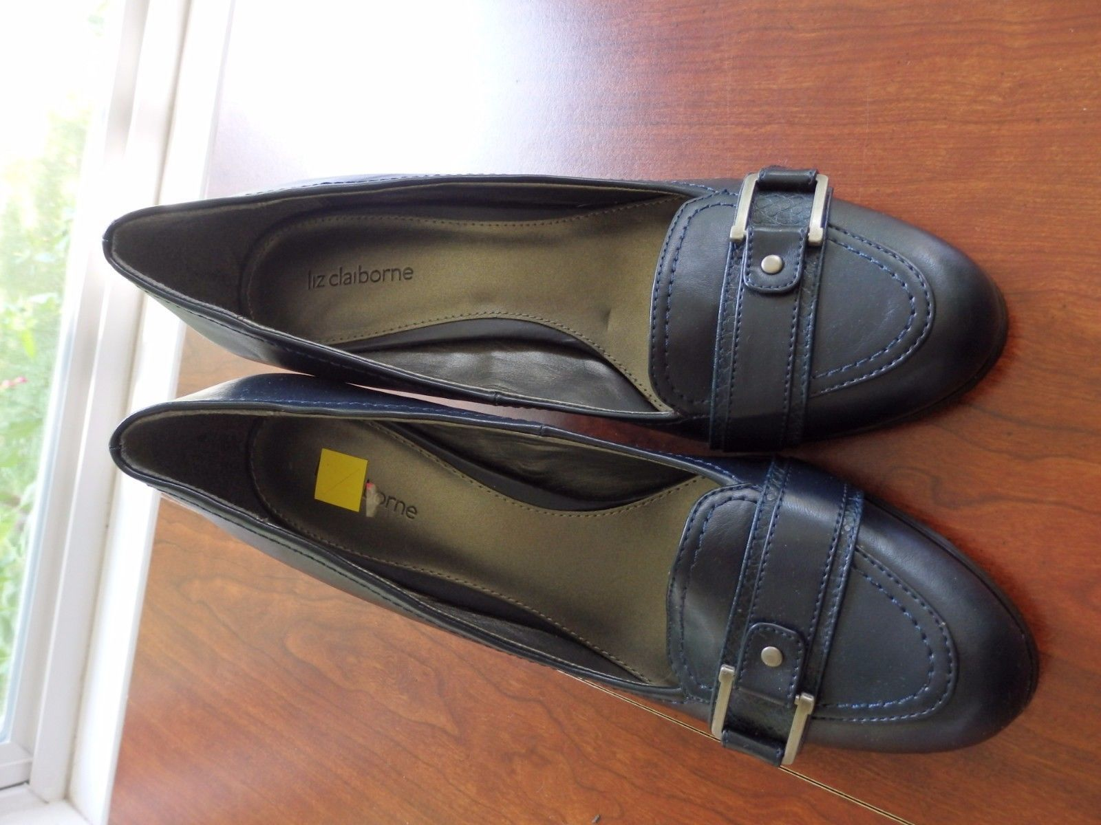 0638be68248 Liz Claiborne women s Navy Heels Buckle and 50 similar items. S l1600