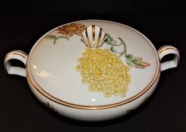 Kent Verona Round Covered Vegetable Bowl Occupied Japan Chrysanthemum Go... - $59.39