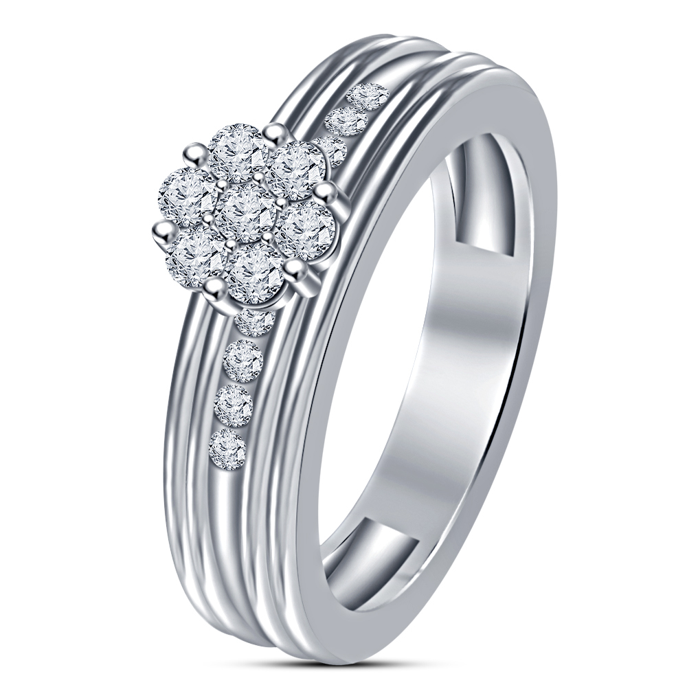 Primary image for Women Hot 14k Silver Plated White Sim Diamond Stunning	Engagement Ring