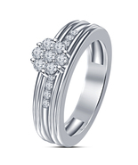 Women Hot 14k Silver Plated White Sim Diamond Stunning	Engagement Bridal... - $5.15