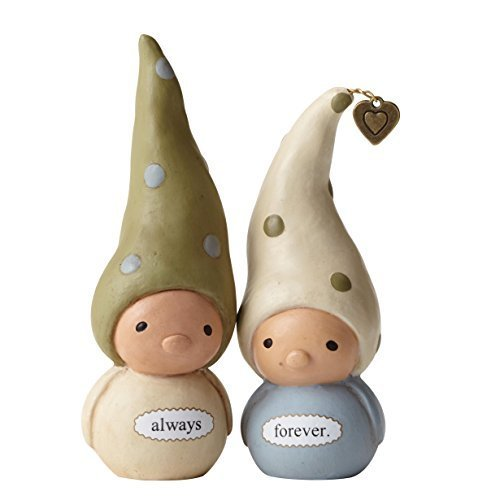 Enesco Bea's Wees by Natalie Kibbe Always/Forever Mini Figurine, 3.75-Inch, Set