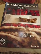 WILLIAMS-SONOMA HOME CATALOG HOLIDAY 2015 CHIC COMFORTS BRAND NEW - $9.99