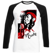 Sam Cooke Jazz - New Black Sleeved Baseball Cotton Tshirt - $26.93