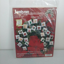 Christmas 24 Ornaments Cross Stitch Kit Mini Super Value Pack Janlynn NE... - $24.14