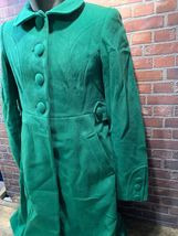 TOMMY HILFIGER Green Women's Winter Coat Size 4 Style H9457 Long Trench Full image 4
