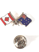 new zealand and canada flag pin Lapel Pin, Badge, tie pin, very detailed giftbox