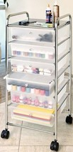 6 Drawers Storage Shelf Chest Rolling Cart Arts Crafts Office Supplies O... - $62.32