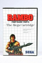 Sega Rambo First Blood Part II Master System Game SMS With Case And Manual  - $29.70