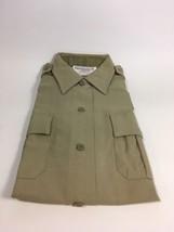 NEW Elbeco Perma Press Officer Guard Uniform Shirt Size 34 Tan Short Sleeve - $14.99