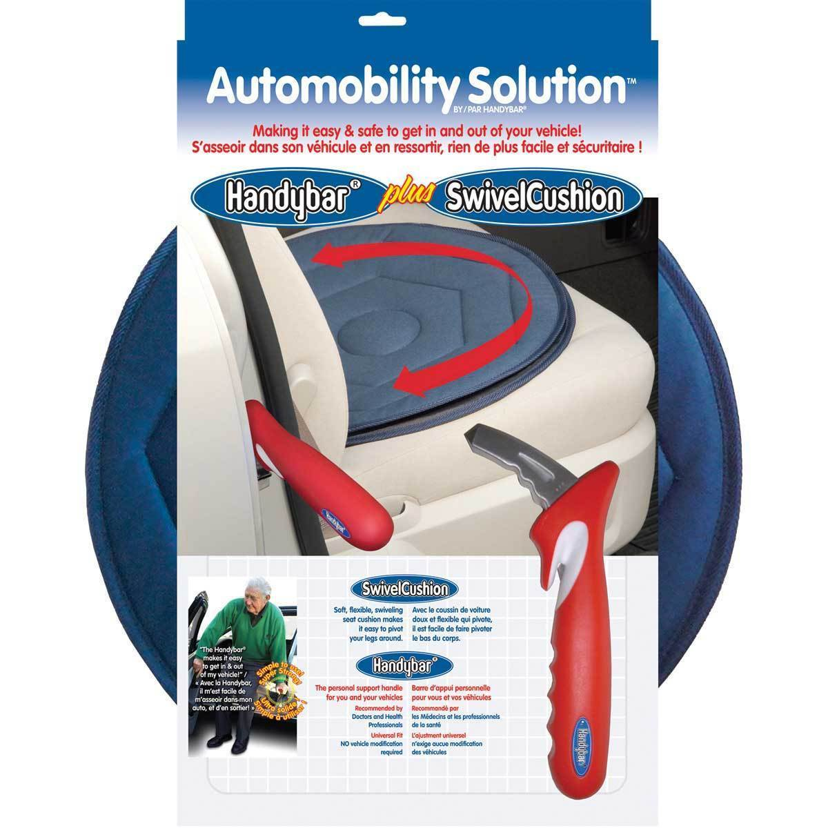 Handybar Automobility Solution Handybar & Swivel Cushion w/Quilted Padding Cover