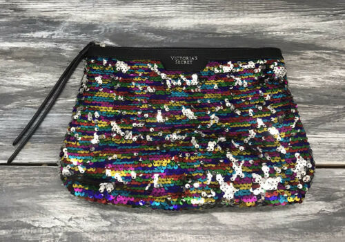 Victoria's Secret Rainbow Flip Sequin Makeup Bag - $9.85
