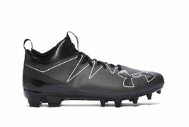 Under Armour Nitro Mid MC Football Training Cleat Men's US Size 13 Black 1269713 - $57.91