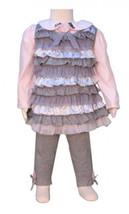 Kate Mack Toddler Girls Pink Gray Size 2T 3Pc Shirt+Jumper+Legging Outfi... - $36.47