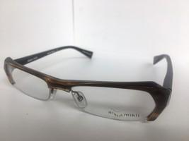 New ALAIN MIKLI A 0474 A0474 36 52mm Havana Semi-Rimless Eyeglasses Frame - $369.92
