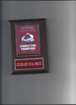 Colorado Avalanche Stanley Cup Banner Plaque Champs Champions Hockey Nhl - $3.95