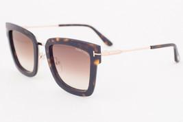Tom Ford LARA Dark Havana / Brown Gradient Sunglasses TF573 52F LARA-02 - $224.42