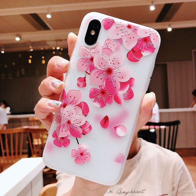 Primary image for 3d Flower Silicone Phone Case For Xiaomi Redmi (3d Relief Flower 3)