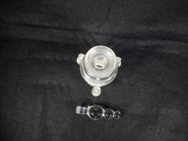 Vintage Imperial Candlewick Clear Glass Perfume Cruet Bottle with Stopper