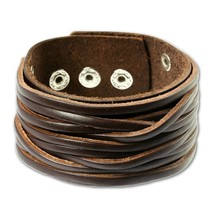 leather bracelet brown, for man, genuine leather LA2249B - $18.94