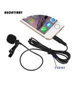 2.5m Omnidirectional Metal Microphone 3.5mm Jack Lavalier Tie Clip Micr... - $12.99