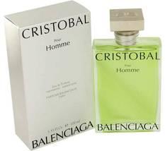 Balenciaga Cristobal Pour Homme 3.3 Oz Eau De Toiklette Spray  image 5