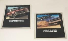 Lot of 2 1984 Chevy Trucks Full-Size Pickups Blazer Dealership Catalog B... - $14.20