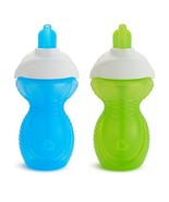Munchkin Click Lock Flip Straw Cup, Blue/Green, 9 Ounce, 2 Count - $9.22