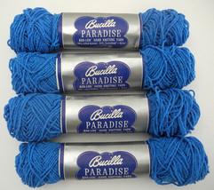 Vintage Bucilla Paradise Ban-Lon Hand Knitting Yarn - 4 Skeins Color Blue #466 - $14.20