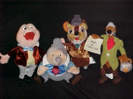 4 Mr. Toad Bean Bags Plush Toys With Tags From Disney Theme Park Edition Rare - $93.49