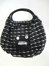 NFL LICENSED SEATTLE SEAHAWKS BOHO TOTE BAG - LARGE WITH BUTTON PINS - $42.00